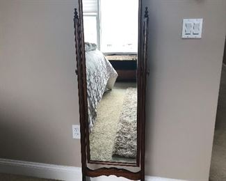$99 Cheval Standing Mirror, Measures: 63 1/2 x 17w  x 17 d