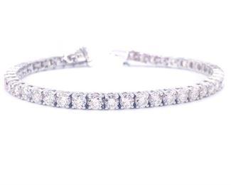 Stunning 9 Carat Diamond Estate Bracelet in 14k White Gold; $16,500
