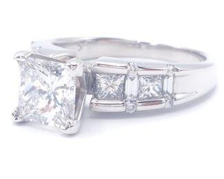 GIA Certified 2.32 Carat Diamond Estate Ring in 14k White Gold; $10,000