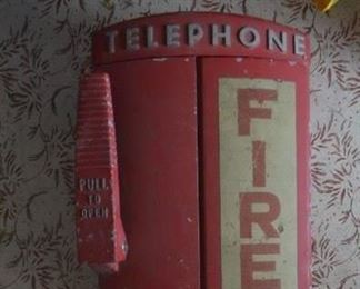 VINTAGE FIRE BOX W/PHONE