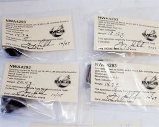 A12	Lot of 4 NWA 4293 Meteorite Specimens 68.13g 	$39.50
