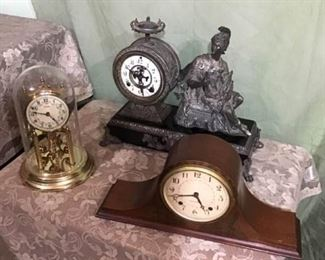 Antique and Newer Clocks