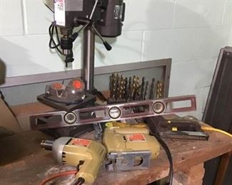 Drill Press and Other Small Electric Power Tools