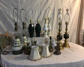 Vintage Antique and Modern Lamps I