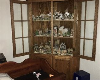 Hutch and village figurines