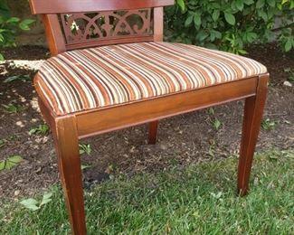 """Dresser chair. 22"""" wide x 18"""" deep x 24.5"""" tall."""