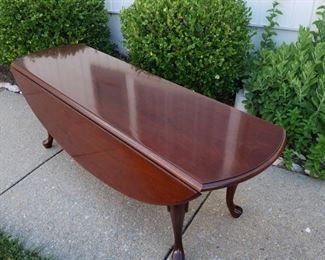 """Double drop-side coffee table. 52"""" long x 18"""" high x 34"""" with table sides extended."""