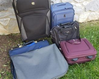 Lot of suitcases.