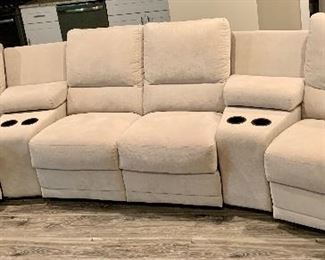 Penny Mustard  5 piece 4 recliner seat Sectional. Only 1.5yrs old. $2995
