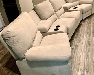 Penny Mustard  5 piece 4 recliner seat Sectional. Only 1.5yrs old. $2995 152 w x 30d x 36/38h