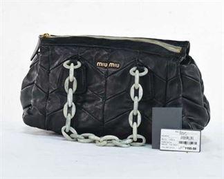 Miu Miu Nappa Patch Leather Hand Bag