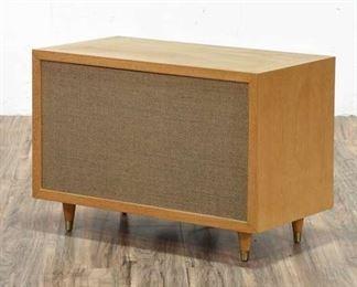 Mid Century Modern Speaker W Brass Tip Tapered Legs