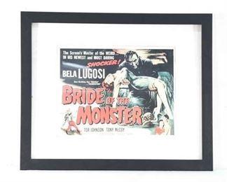 Vintage Bride Of The Monster Movie Lobby Card