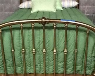 Solid Brass Bed w/ mattress & box springs