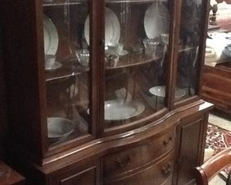 Cherry China Cabinet w/extra Glass Display