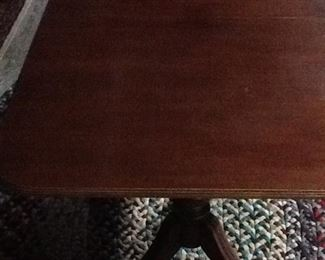 Mahogany Two Pedestal Dining Table (extra leaf)