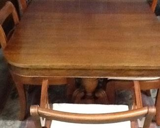 Cherry Dining Table w/ 6 chairs