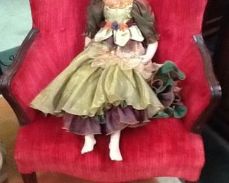 "Porcelain "" Gorgeous"" Collectible (2ft tall) Doll..."