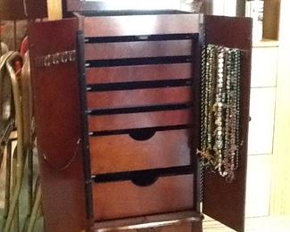 Pic#2  Opened View, Cherry Jewelry Cabinet