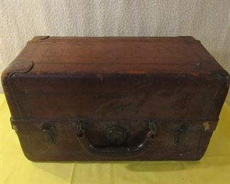 vintage leather fishing tackle box