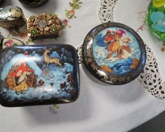 Russian music boxes.