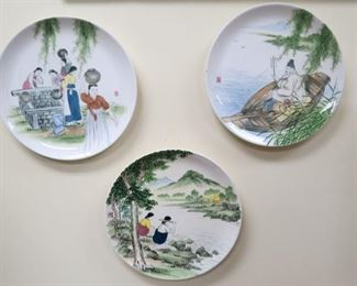 Daehan China, Korean hand painted chargers.