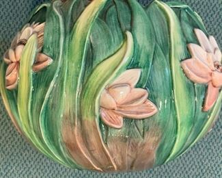 "Alternate view - Italian Ceramic Waterlillies Bowl - $20 - 13""  x 9"""