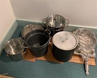"Lot of pots and pans - $55 - Wok 13""Diameter, Largest Pot 13""H"