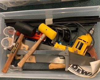 Lot including DeWalt Drill - $30