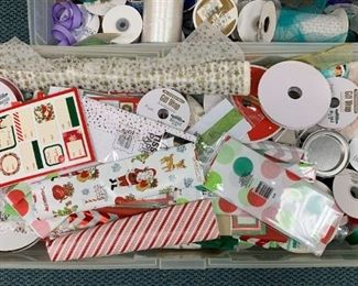 Lot of Ribbon and paper - $10