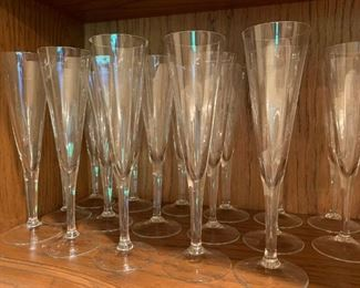 Lot of Champagne flutes - $15 - 9""