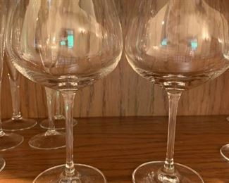 2  Large Wine Glasses $2 - 8 1/4""