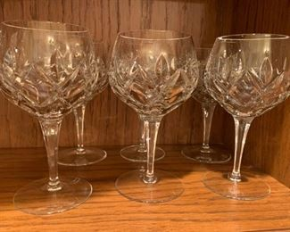 6 Heavy Crystal Goblets - $10 - 6 3/4""