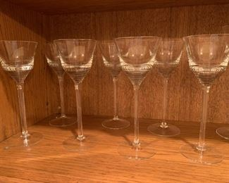 "Lot of Tall Stemmed Glasses - 8 5/8"" - $20"