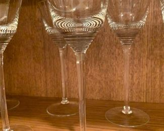 "Alternate view - Lot of Tall Stemmed Glasses - 8 5/8"" - $20"