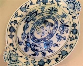 "Meissen Blue Onion Lidded Vegetable Bowl - $100 - 13 1/2"" x 10 1/4""."