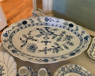 "Huge Meissen Blue Onion Platter - $75 - 24"" x 16"""