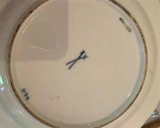Alternate view - Gold Rimmed Meissen Blue Onion Dinner Plate - $25 - 10""