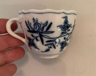 Meissen Blue Onion Demitasse cup - $10 - 2""