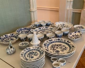 Large lot of Blue Onion Dishes - Various Makers (Not Meissen) - $200