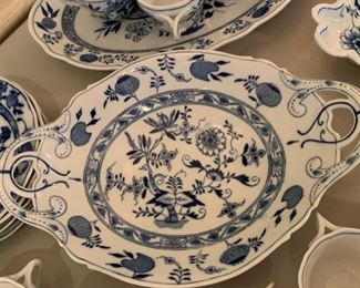 Alternate view - Large lot of Blue Onion Dishes - Various Makers (Not Meissen) - $200