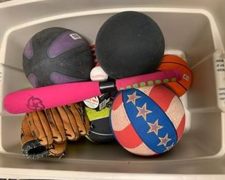 Lot of sporting goods - $5