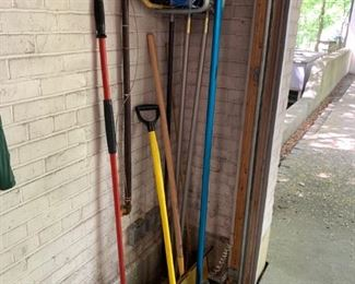 Lot of brooms, etc. - $10