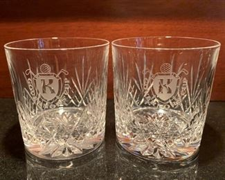 "2 Rock Glasses - 3 1/4""H - $10"