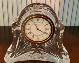 "Waterford Clock - 3.5"" H - $10"