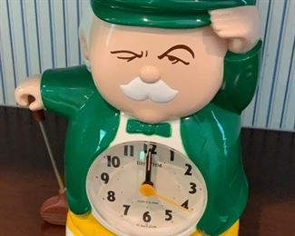 "Golfer Clock - 7.5"" Tall - $15"
