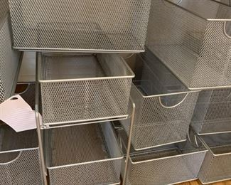Alternate view - Assorted wire desk and storage bins - All - $35