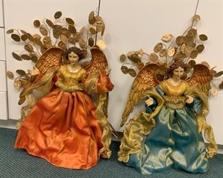 "Large decorative angels - $75 for the pair - 26"" tall"