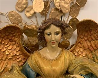 "Alternate view - Large decorative angels - $75 for the pair - 26"" tall"