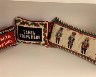 "Holiday Pillows - 17"", 9"", 8"" - All $20"